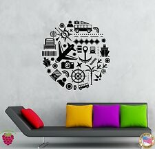 Wall Stickers Vinyl Decal Travel Summer Vacation Tourism Decor  (z2011)