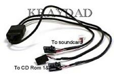 Dual CDrom DVD Audio Connector Connect 2 Drives to One Soundcard Input