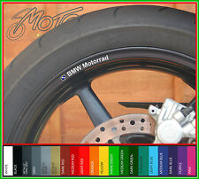 8 x BMW Motorrad Wheel Rim Stickers Decals - r1200gs adventure s1000rr r1150gs