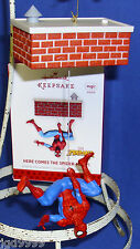 Hallmark Magic Ornament Marvel Comics Here Comes the Spider-Man 2013 Sound NIB
