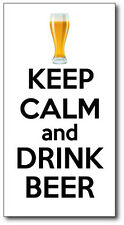 KEEP CALM AND DRINK BEER - Alcohol Themed  VINYL STICKER - 17cm x 10 cm