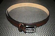 THE MENS STORE DESIGNER GENUINE LEATHER BELT COLOR BROWN SIZE 32 RP $90.00 NWT
