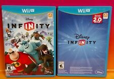 Disney Infinity - 1 & 2.0 Edition Nintendo Wii U Complete Rare 2 Game Bundle 1.0