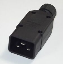 IEC C20 16 AMP REWIREABLE CONNECTOR PLUG - 16A