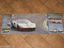 # POSTER FORD GT40 GP BRANDS HATCH 1968 CM.77X28 AE6