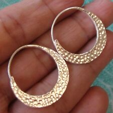 BEAUTIFUL HANDMADE HAMMERED EARRINGS 925STERLING SILVER By KAREN HILL TRIBE