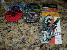 Syphon Filter the Omega Strain, Rally Cross 2 & Metal Gear Solid 2 - PS2