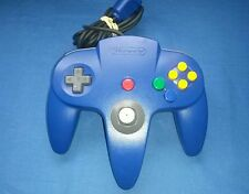 OEM Authentic Solid Blue Nintendo 64 N64 Controller Very TIGHT STICK