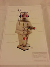 "PRINT #3 Robot Japan classic tin space 17""x11"" ray gun Mr Robot Alps 1955 MINT"