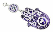 Turkish Blue Evil Eye Hamsa Hand Amulet Wall Hanging Protection Decor