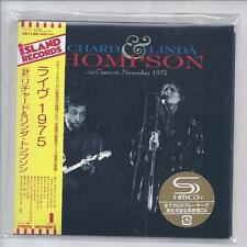 RICHARD & Linda THOMPSON In Concert November 1975 Live  JAPAN mini lp cd SHM cd