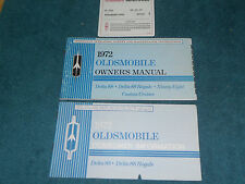 1972 OLDSMOBILE BIG CAR / 88 / 98 OWNER'S MANUAL SET / ORIGINAL GUIDE BOOK SET