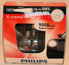 PHILIPS X-TREME VISION 9008 H13 (Pair) 100% MORE LIGHT 60/55W CAR HEADLIGHT BULB