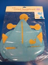 Sailboat Anchor Whale Blue Baby Shower Nursery Party Decoration Felt Cutouts