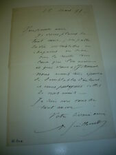 2 LETTRES  AUTOGRAPHES  DE JEAN-BAPTISTE ANTOINE GUILLEMET PEINTRE 1886