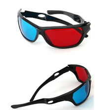 5x Black Frame Red Blue 3D Glasses For Dimensional Anaglyph Movie Game DVD S