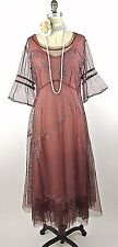 Nataya Dress Sale Victorian Style Lace Cocktail Formal Dress L NWT Coral,pink