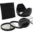 58mm CPL+UV Filter+Lens Cap +Hood FOR canon eos 450d 500d 600d 1100d nokon UK