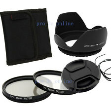 58mm CPL+UV Filter+Lens Cap +Hood FOR canon eos 450d 500d 600d 1100d nokon UK