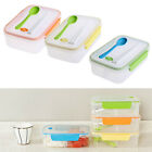 Potable Plastic Lunch Bento Box Microwave Food Storage Container +Spoon Utensils