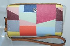 Tory Burch Kerrington Smartphone Wristlet Wallet Red Canyon Clutch Handbag NWT