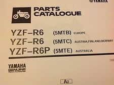YAMAHA YZF R6 R6P PARTS LIST MANUAL CATALOGUE 5MTB 5MTC 5MTE 2001