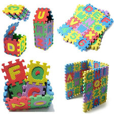 36PCS Soft Foam Mat Jigsaw Tiles Alphabet Numerals Baby Kids Educational Puzzle