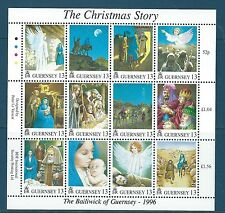 GUERNSEY1996 CHRISTMAS SET OF 12 IN SHEETLET MINIATURE SHEET UNMOUNTED MINT. MNH