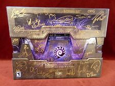 SUPER RARE Signed STARCRAFT II Collector's Edition HEART OF THE SWARM BOX SET