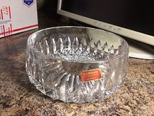 "Vintage Gorham Full Lead Crystal Round Thick Glass 7"" Bowl West Germany"