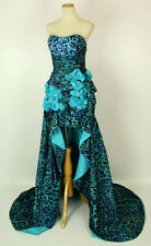 New Genuine Jovani 171205 Blue High-Low Prom Evening Women Gown Dress 0