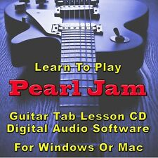 PEARL JAM Guitar Tab Lesson CD Software - 114 Songs