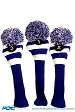 1 3 X Classic BLUE WHITE KNIT POM golf club Headcover pom Head covers Set colors