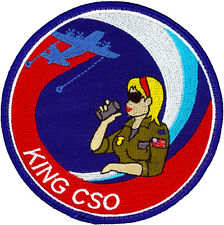USAF 79th RESCUE SQUADRON HC-130P/N KING COMBAT SYSTEMS OFFICER PATCH - CHICK