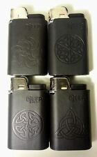 DJEEP lighter Leather Black 4 Pcs Lighters