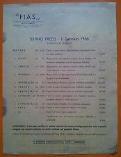 Gardone Val Trompia 1966: Listino prezzi FIAS Fabbrica Armi Sabatti