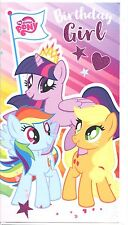 """OFFICIAL MY LITTLE PONY """"GIRL"""" BIRTHDAY/GREETINGS CARD**FREE 1ST CLASS P&P**"""