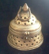 Antique Islamic Brass Open Work Cast Brass Incense Burner