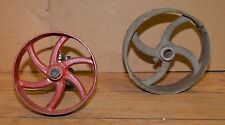 Hit & Miss engine pulley collectible leather belt driven industrial steam punk