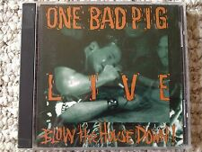"""One Bad Pig Live """"Blow the house down"""" CD 1992 Word Inc"""