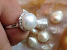 Natural 12-12.5mm AAA white south sea pearl ring LL001