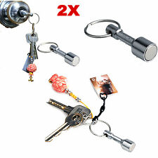 2 Pcs Keyring Holder Test Magnet For Silver Gold Scrap Metal Antiques Key Chain