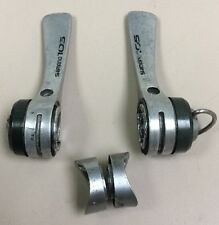 SHIMANO 105 SHIFTERS 6 SPEED 1050 BRAZE ON INDEX OR FRICTION