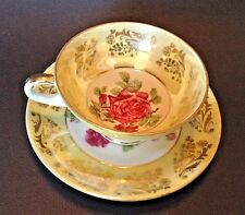 Royal Sealy Pedestal Tea Cup And Saucer - Hand Painted Roses With Gilding  Japan
