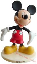 PLASTIC RUBBER MICKEY MOUSE BIRTHDAY CAKE TOPPER DECORATION 8cm HIGH