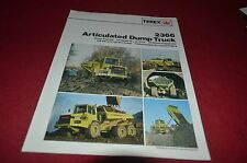 Terex 2366 Articulated Dump Truck Dealer's Brochure DCPA6