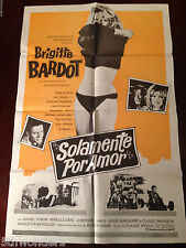 PLEASE NOT NOW La bride sur le cou Brigitte Bardot Original Movie Poster
