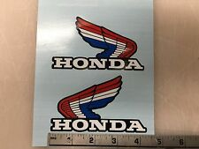 VINTAGE Honda wings Red/Blue CR MR  atc70  XL XR  SL FUEL TANK  Decals  stickers
