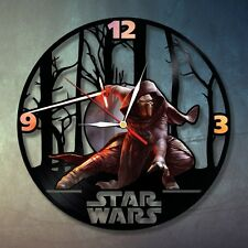 Star War 2C design vinyl record wall clock home kids bedroom playroom move game