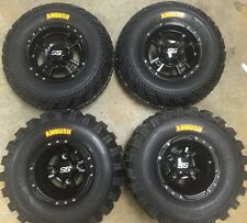 4 NEW HONDA TRX400EX TRX400X BLACK ITP SS112 Rims & AMBUSH Tires Wheels kit